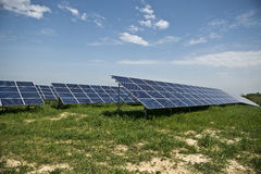 Solar panels. In solar power elecricity Royalty Free Stock Photo