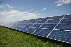 Solar panels. In solar power elecricity Royalty Free Stock Images