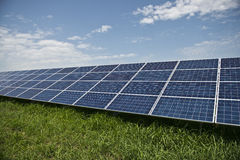 Solar panels. In solar power elecricity Royalty Free Stock Photography