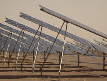 Solar Panels in a Power Plant Stock Photography