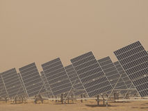 Solar Panels in a Power Plant Royalty Free Stock Images