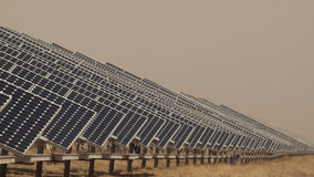 Solar Panels in a Power Plant Royalty Free Stock Photo