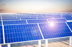 solar panels power plant Royalty Free Stock Images