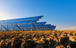 Solar panels for power production Royalty Free Stock Images