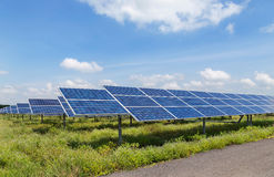 Solar panels  in power station Stock Photos