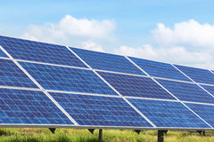 Solar panels  in power station Royalty Free Stock Photography