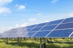 Solar panels alternative renewable energy from the sun Royalty Free Stock Photography