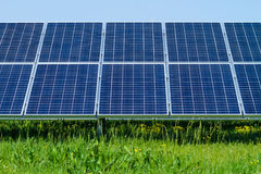 Solar panels produces green Stock Images
