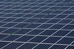 Solar panels. Producing clean and sustainable electricity Stock Photography