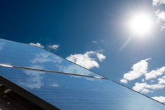 Solar panels producing energy Royalty Free Stock Images