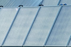 Solar panels for producing green electricity. Solar panels for producing electricity without pollution Royalty Free Stock Photo