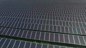 Solar panels stock video