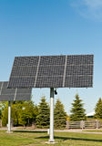 Solar Panels in a Public Park - Alternative Energy Stock Images