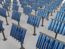 Solar panels rectangular pattern Royalty Free Stock Images