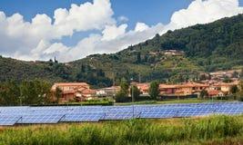 Solar panels for renewable energy Stock Photography