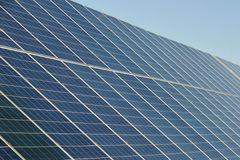 Solar panels for renewable energy Stock Photos