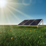 Solar panels renewable energy concept Royalty Free Stock Images