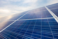 Solar panels for renewable energy Royalty Free Stock Images