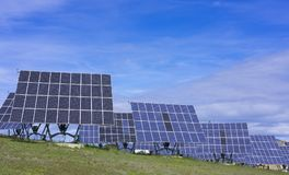 Solar panels, renewable energy. In the Basque Country Royalty Free Stock Image