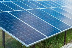 Solar panels. Renewable solar energy stock image