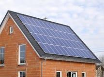 Solar panels on residentiel house Stock Photos
