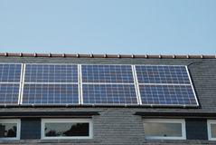 solar panels on roof royalty free stock images