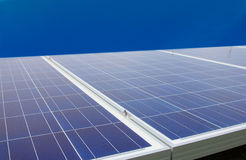 Solar Panels On Roof Stock Photography