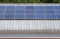 Solar Panels on Roof Stock Photos