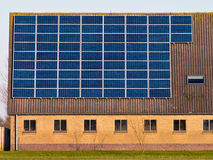 Solar panels on a roof Stock Photos