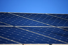Solar Panels. On a roof Royalty Free Stock Image