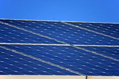 Solar Panels. On a roof Stock Image