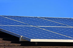 Solar Panels. On a roof Stock Photography