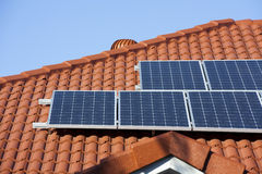 Solar panels. On the roof Royalty Free Stock Photos