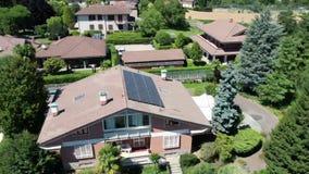 Solar Panels on the Roof, Aerial, Hyperlapse