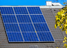 Solar panels on the roof. Of a building Stock Images