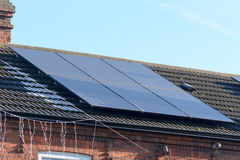 Solar panels on roof Stock Image