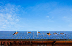 Solar panels on the roof of building Stock Photo