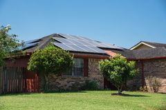 Solar panels roof Royalty Free Stock Image