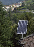 Solar panels on the roof Royalty Free Stock Photo