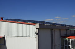 Solar panels on the roof Stock Image