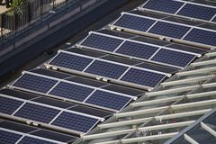Solar panels roof Stock Photography