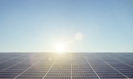 Solar Panels on Roof royalty free stock photo
