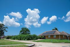 Solar panels roof Royalty Free Stock Photography