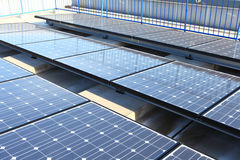 Solar Panels on roof top stock photo