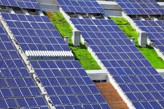 Solar panels on roof top Royalty Free Stock Photo