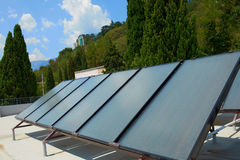 Solar panels on the roof Royalty Free Stock Photography