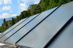 Solar panels on the roof Royalty Free Stock Image