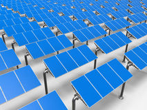 Solar panels in a row Royalty Free Stock Photos