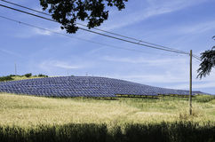 Solar panels in rural Stock Image