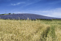 Solar panels in rural Royalty Free Stock Photo